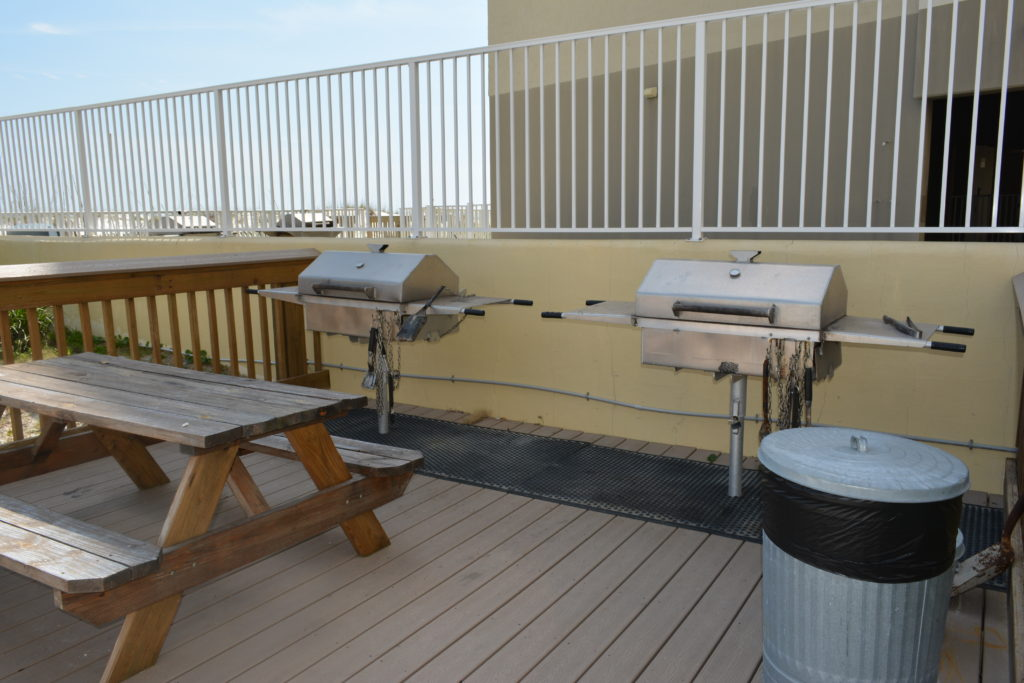 Grilling area right by the pool!
